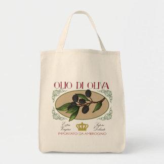 Tote Bag Art italien Fourre-tout d'étiquette d'olives de