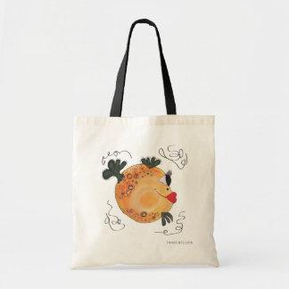 Tote Bag Art lunatique et adorable de poissons orange et
