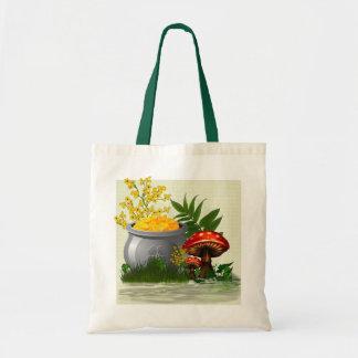 Tote Bag Art populaire lunatique de traînée de trèfle