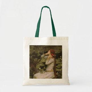 Tote Bag Art victorien, Ophélie par l'étang par le château