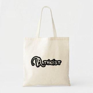 Tote Bag Athée en noir et blanc