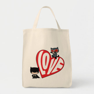 Tote Bag Attaque de Catwoman de Chibi sur Batman