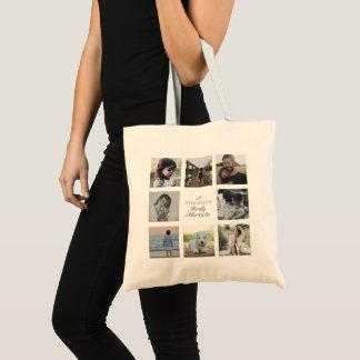 Tote Bag Aventure multiple de collage de nom de famille de