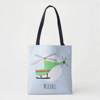 Tote Bag Avions de l'hélicoptère du garçon mignon avec le