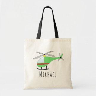Tote Bag Avions et nom de l'hélicoptère du bébé mignon