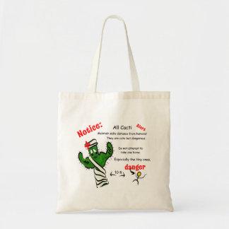 Tote Bag Avis à tous les cactus - les humains sont