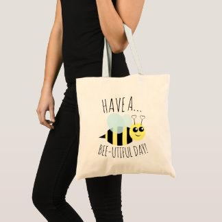 Tote Bag Ayez un jour d'Utiful d'abeille