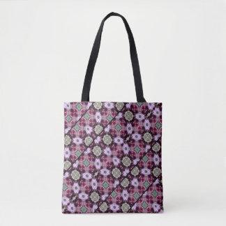 Tote Bag Bagout barré par orchidée pourpre