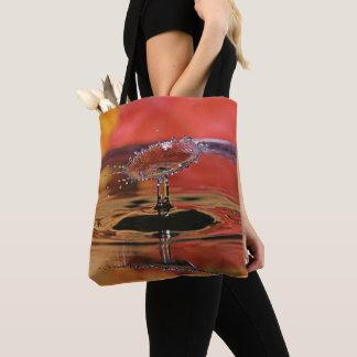 Tote Bag Baisse Fourre-tout de l'eau de couleur de chute