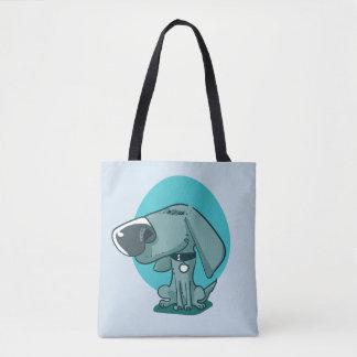 Tote Bag bande dessinée drôle de chien de grand nez