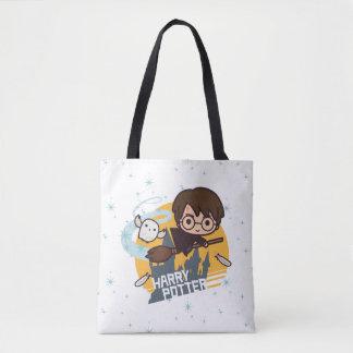 Tote Bag Bande dessinée Harry et vol de Hedwig après