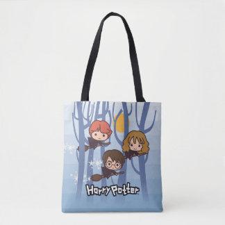 Tote Bag Bande dessinée Harry, Ron, et vol de Hermione en