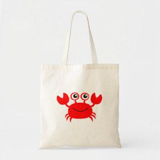 Tote Bag Bande dessinée rouge heureuse de crabe