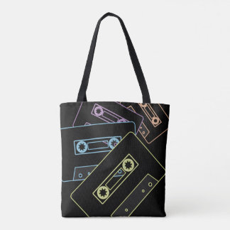 Tote Bag Bandes rougeoyantes de cassette audio