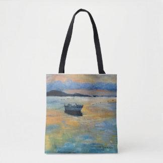 Tote Bag Bateau au coucher du soleil