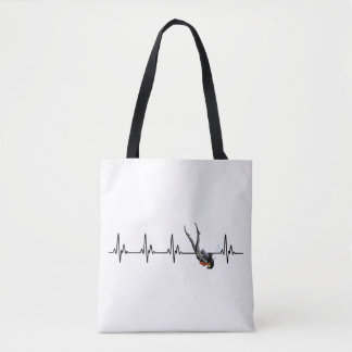 Tote Bag Battement de coeur de plongée à l'air de dames