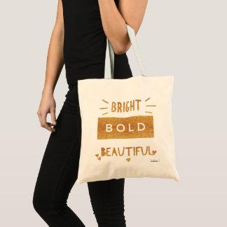 Tote Bag Beau audacieux lumineux, texte d'or