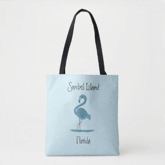 Tote Bag Beaux-arts de flamant de turquoise - île de