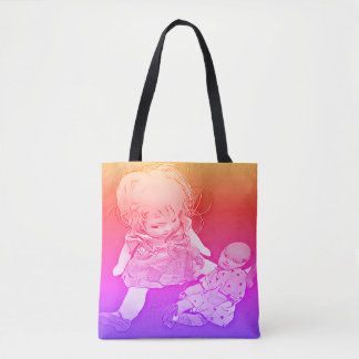 Tote Bag Bébé de petite fille - couleurs de bruit de poupée