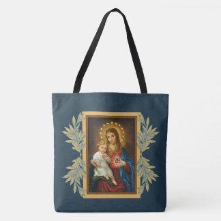 Tote Bag Bébé impeccable et douleureux Jésus de Mary de