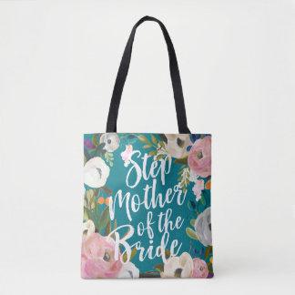 Tote Bag Belle-mère de noce florale balayée par jeune