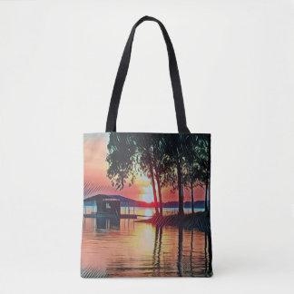 Tote Bag Belles réflexions de l'eau de coucher du soleil de