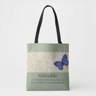 Tote Bag Bibliophile-Papillon-Sophistiqué-Sac à