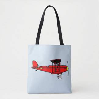 Tote Bag Biplan rouge