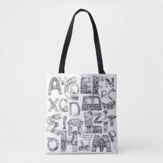 Tote Bag Blanc fantastique Fourre-tout de lettres