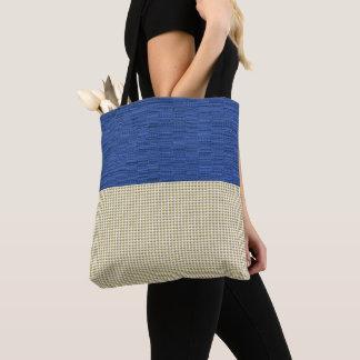 Tote Bag Bleu-Armure-Or-Bulle-Emballage-Épaule-Sac-Multi