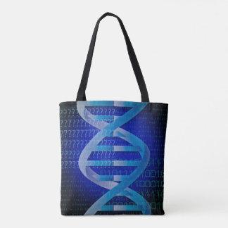 Tote Bag Bleu d'identification d'ADN
