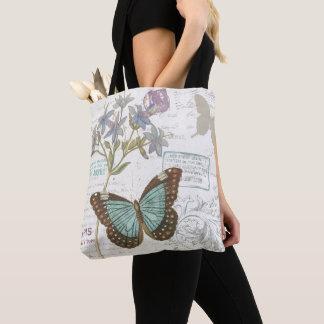 Tote Bag Bleu et papillon de Brown