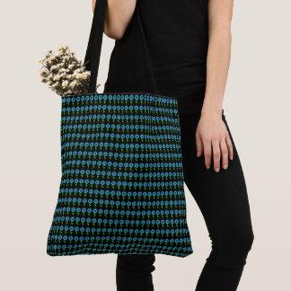 Tote Bag Bleu-Tournesol-Noir-Moderne-Emballage-Épaule-Sac
