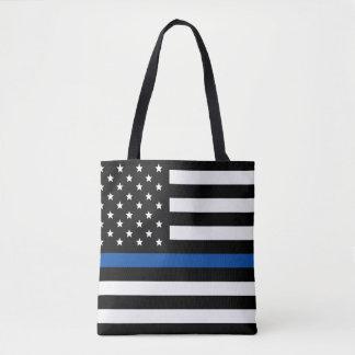 Tote Bag Blue Line mince - drapeau américain