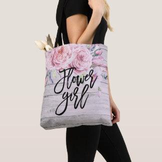 Tote Bag Bois rustique floral d'aquarelle de demoiselle de