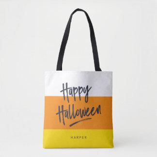 Tote Bag Bonbons au maïs doux Halloween heureux