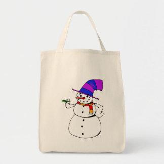 Tote Bag Bonhomme de neige heureux