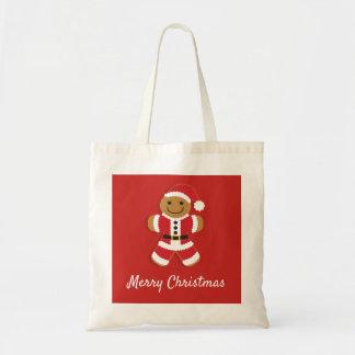 Tote Bag Bonhomme en pain d'épice de Père Noël |