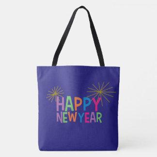 Tote Bag Bonne année avec des feux d'artifice