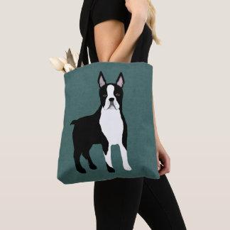 Tote Bag Boston Terrier Fourre-tout sur toute la surface