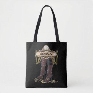 Tote Bag Bottes de mode de Steampunk