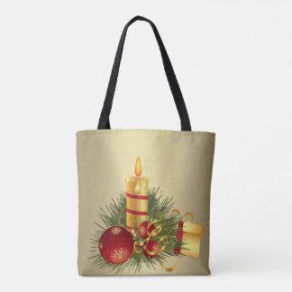 Tote Bag Bougie d'or de Noël