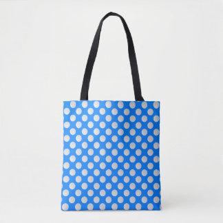 Tote Bag Boules de golf blanches sur le bleu azuré