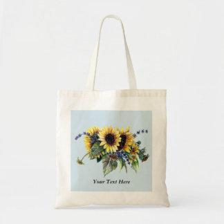 Tote Bag Bouquet personnalisé de tournesol