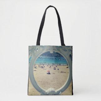 Tote Bag Bourse de toile avec impression de plage