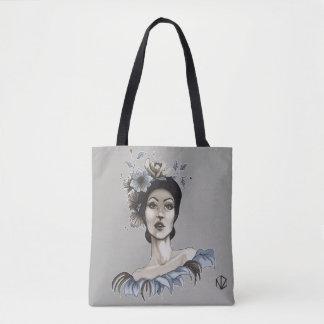 Tote Bag Bourse Femme avec des Fleurs - María