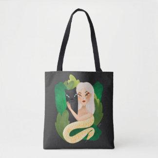 Tote Bag Bourse toile - l'enfant de la forêt
