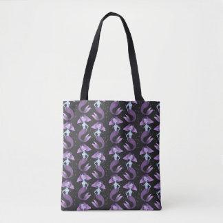 Tote Bag Bourse toile - Violette. la sirène