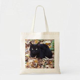 Tote Bag Budget Fourre-tout de feuille d'automne de chat