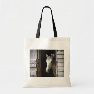 Tote Bag Budget gris Fourre-tout de cheval de jument